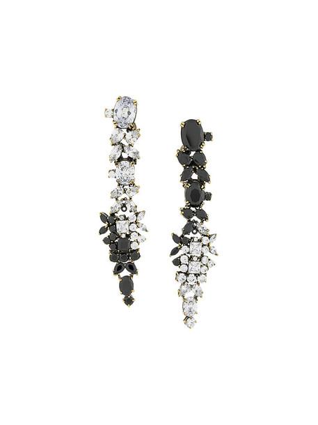IOSSELLIANI women optical earrings gold grey metallic jewels