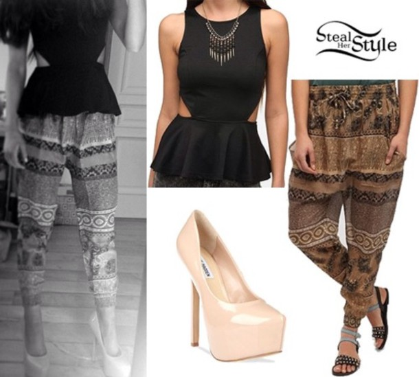 pants ariana grande shirt shoes jewels