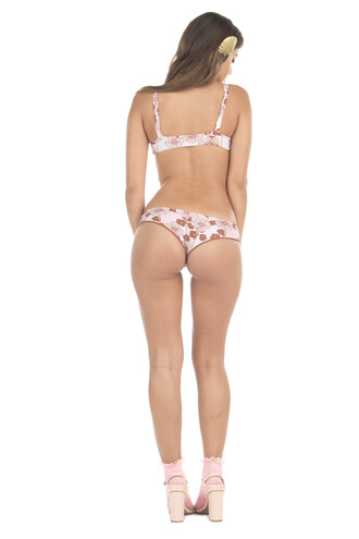 swimwear lolliswim bikini bottoms cheeky floral pink print reversible