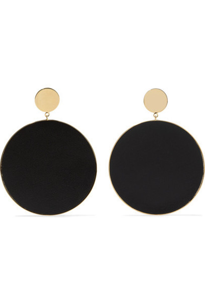 Arme De L'Amour earrings gold leather jewels