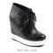 New womens metal platform wedge ankle boots us 5 6 7 8 | ebay