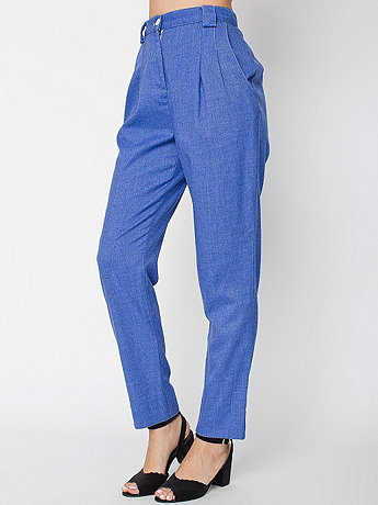 Calvary Twill High-Waist Pleated Pant  | American Apparel