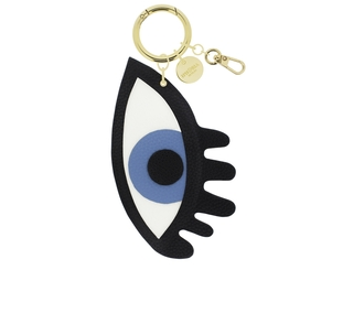 bag eyes keychain mirror