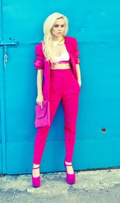 jacket,pink,blazer,suitm,suit,set,white,shoes