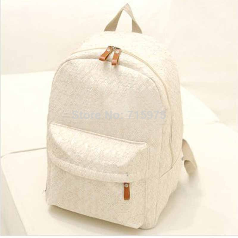 nuevo 2014 mujeres coreanas cordón mochilas escolares lindo fresco mochilas de lonaimpresión las mujeres en de en Aliexpress.com