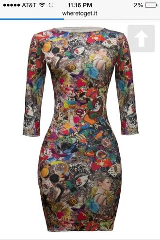 multicolor bodycon dress dress multi colored dress