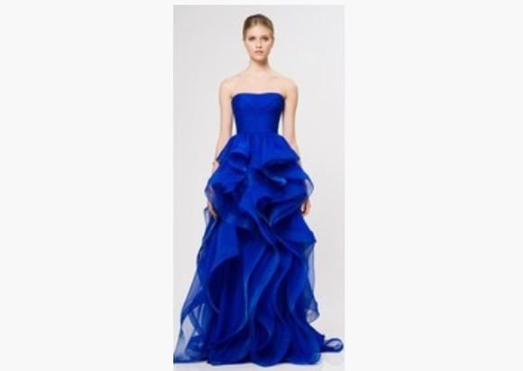 blue dress mermaid prom dresses