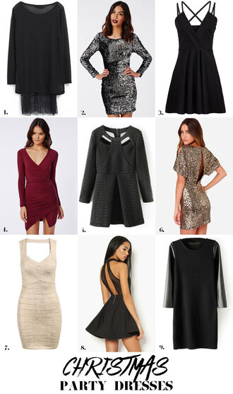 stylista blogger party dress glitter dress new year's eve holiday dress