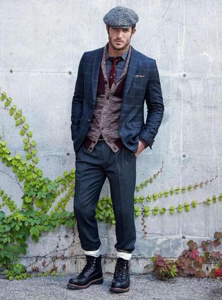 hat flat cap casual suits jacket 4bba5de6425