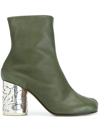 boots ankle boots green shoes