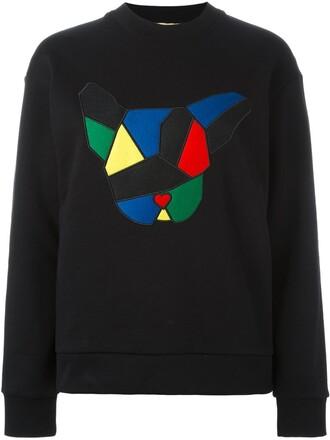 sweatshirt geometric print black sweater