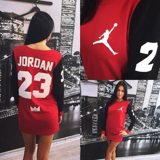 dress jordans sweater dress baseball tee