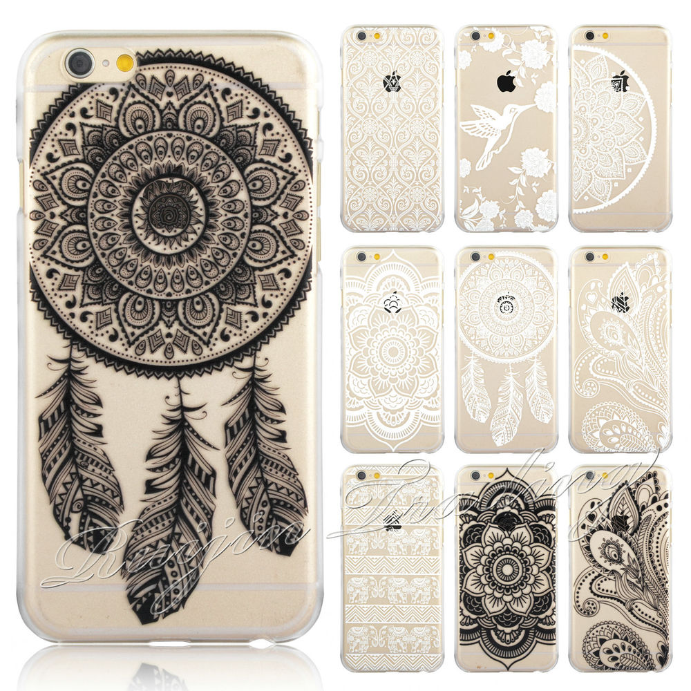 b09dea51758 HENNA Flower Paisley Tribal Elephant Cover Phone Case for iPhone 5 5S 5C 6  Plus