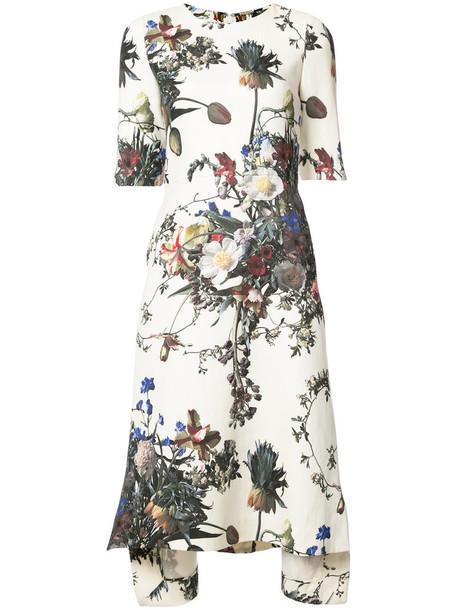 Adam Lippes dress print dress women floral print wool