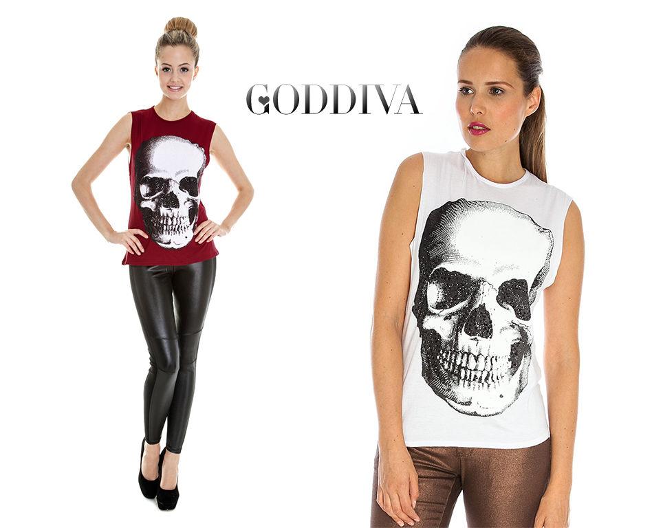 Goddiva Embellished Skull Top | eBay