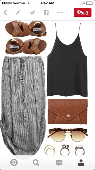 skirt style striped skirt