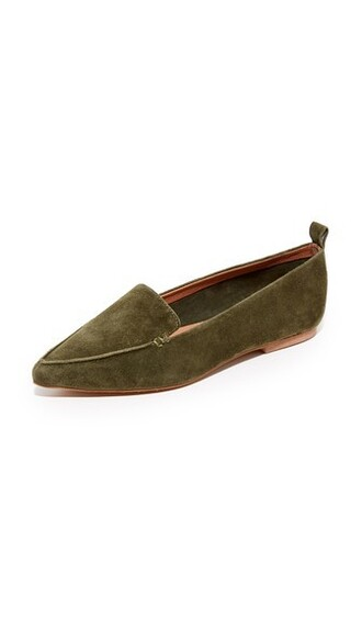 loafers khaki shoes