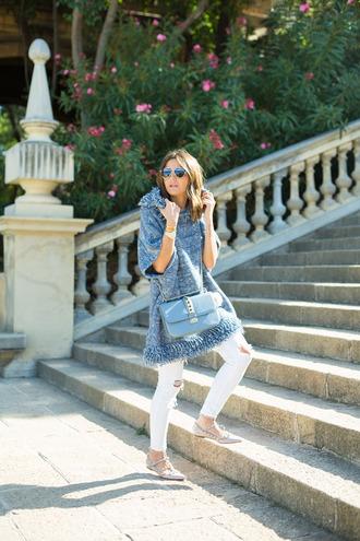 lovely pepa blogger coat jeans bag jewels shoes