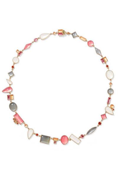 Larkspur & Hawk stone necklace necklace gold jewels