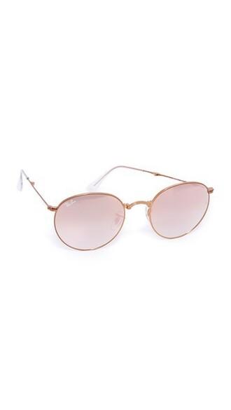 shiny sunglasses round sunglasses bronze copper