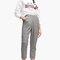 Pantalon carrot jacquard - null | stradivarius france