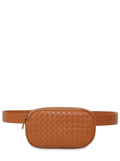 BOTTEGA VENETA Intrecciato Leather Mini Belt Bag Wood