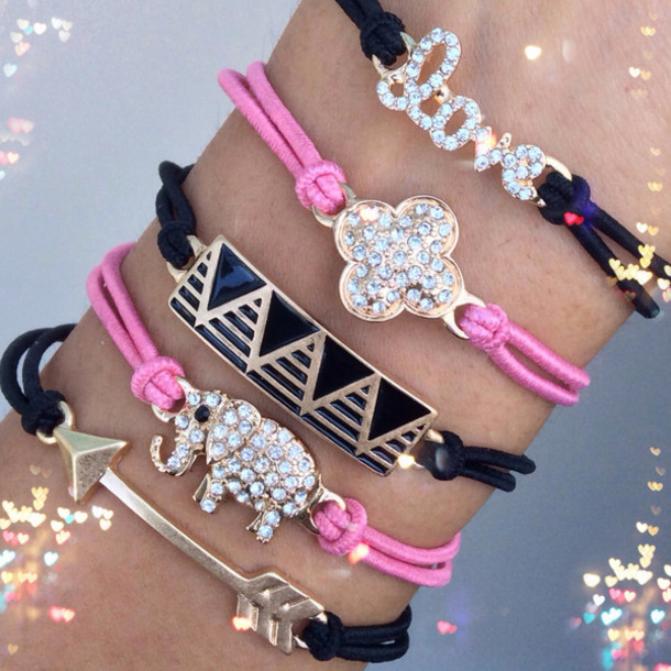 jewels pink pinkandblack jewelry trendy fashion buy trendy