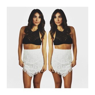 skirt free vibrationz crochet white crochet white crochet skirt fringes fringe skirt white fringe skirt crochet fringe high waisted skirt mini skirt fitted skirt cute skirt summer swimwear cover up crochet cover up festival cute sexy