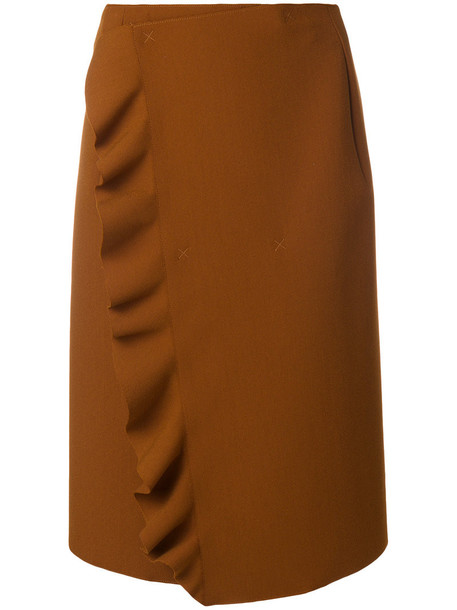 MSGM skirt women brown