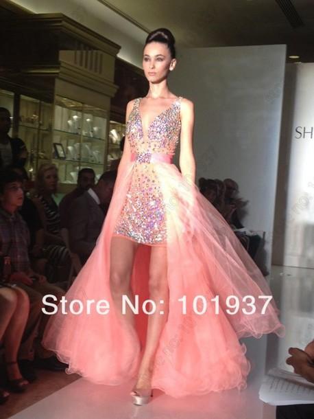 dress, prom dress, high low prom dresses, cute, pink prom dress ...