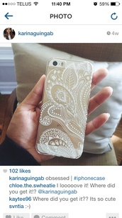 phone cover,clear,paisley,iphone 5 case