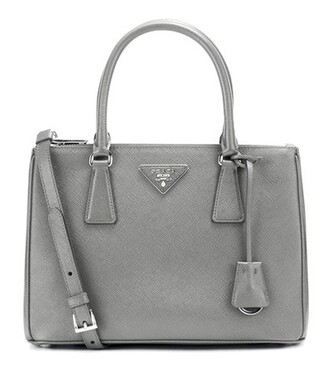 bag shoulder bag leather grey