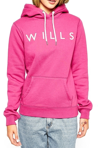 sweater sporty casual girly fashion style cool trendy warm winter outfits cozy hot pink pullover jumper sportswear