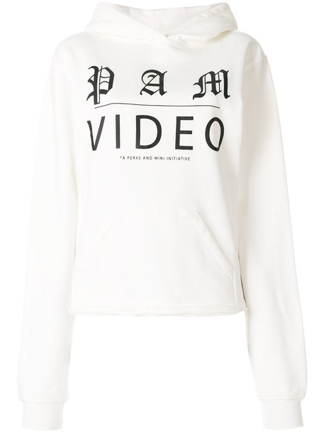 P.A.M. hoodie women white cotton sweater