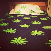 shoes,black,white,green,weed,bedding,home accessory,bed comforter