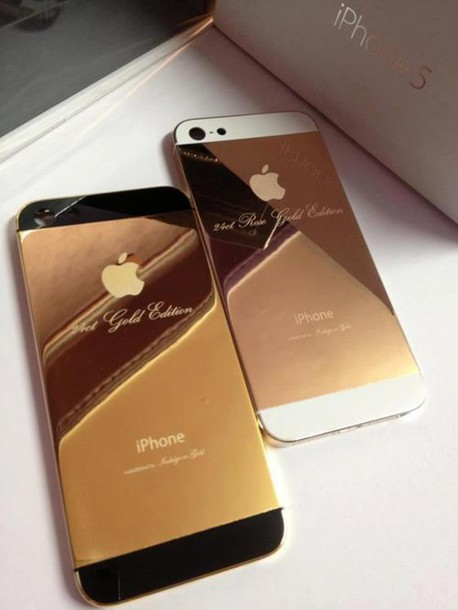 phone cover apple gold edition