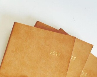 home accessory tan light brown leather 2015 notebook new years resolution