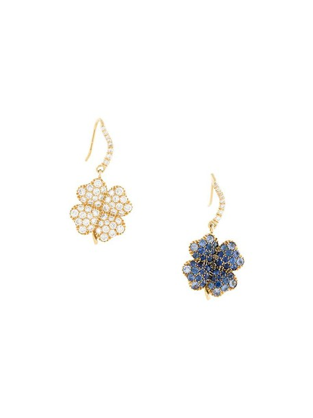 AURELIE BIDERMANN women earrings gold blue yellow jewels