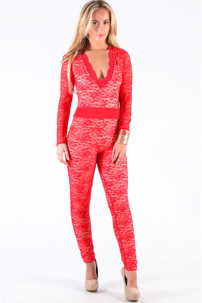 jumpsuit red dress