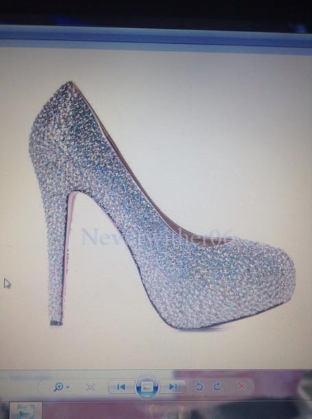 shoes sparkle diamanté wedding miu miu beige 39