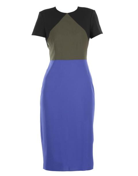 Diane Von Furstenberg dress wool blue black