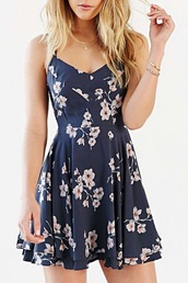 dress,blue,floral,cute,summer,girly,fashion,spring,beautifulhalo,girl,girly wishlist,floral dress,summer dress,style,beautiful halo
