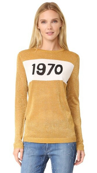 jumper sparkle gold sweater