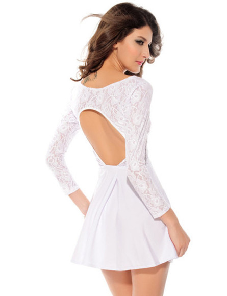 backless dresse dentelle dress