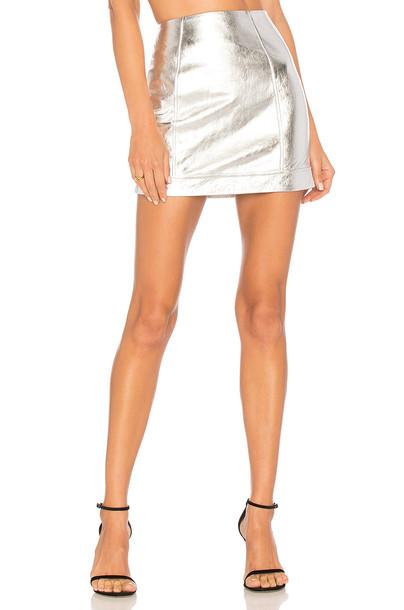 h:ours skirt mini skirt mini metallic silver