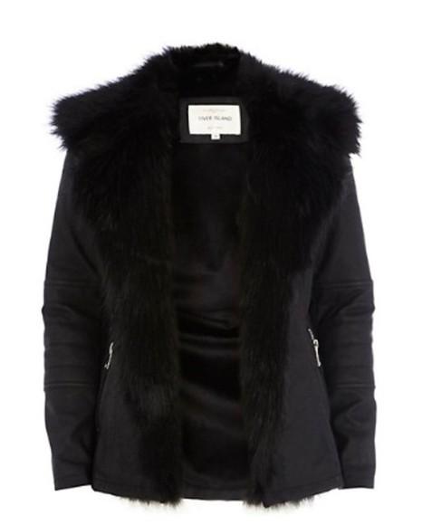 fur fur coat black winter coat