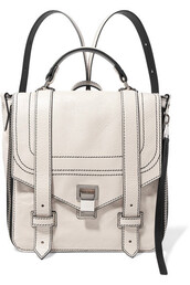 backpack,leather backpack,leather,cream,bag