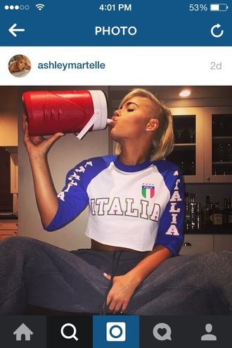 shirt baseball tee ashleymartelle italian blue white green flag amerivan italia baseball tee baseballtee red