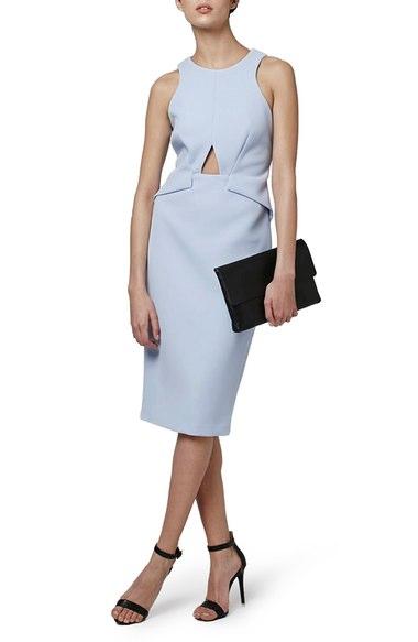 Topshop Cutout Midi Dress | Nordstrom