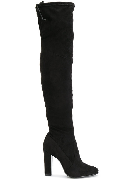 Schutz women over the knee black shoes